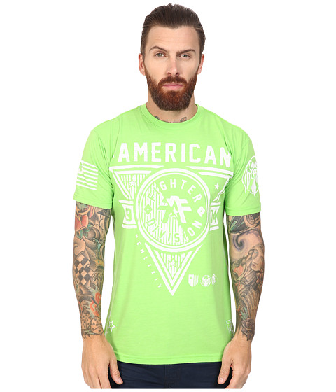 American Fighter Siena Heights Handcrafted Short Sleeve Crew Tee - Neon Lime Green