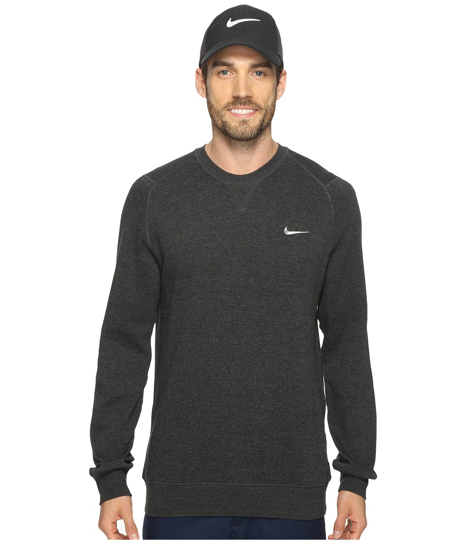 Nike Golf Range Sweater Crew (Black Heather/Metallic Silver) Men