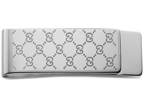 Gucci Gucci Signature Money Clip - Silver