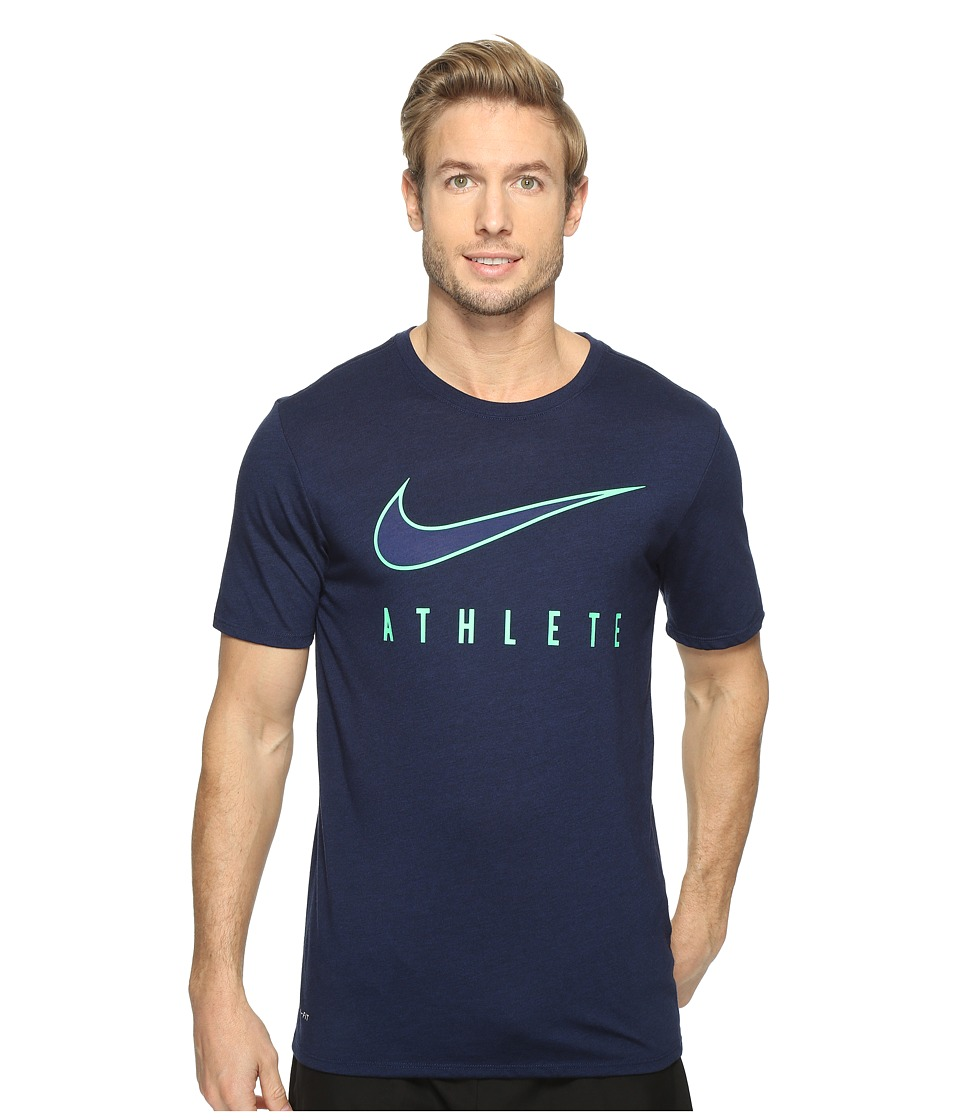 Nike Dry Athlete Training T-Shirt (Binary Blue/Black/Electro Green) Men