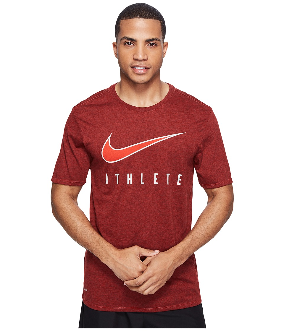 Nike Dry Athlete Training T-Shirt (Max Orange/Black/White) Men