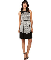 Tahari by ASL - Metallic Sleeveless Fit and Flare with Scallop Detail