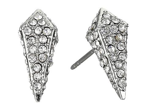 Rebecca Minkoff Pave Spike Stud Earrings - Rhodium/Crystal