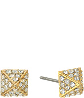 Rebecca Minkoff - Pave Pyramid Stud Earrings