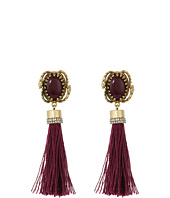 Rebecca Minkoff - Oval Button with Tassel Earrings