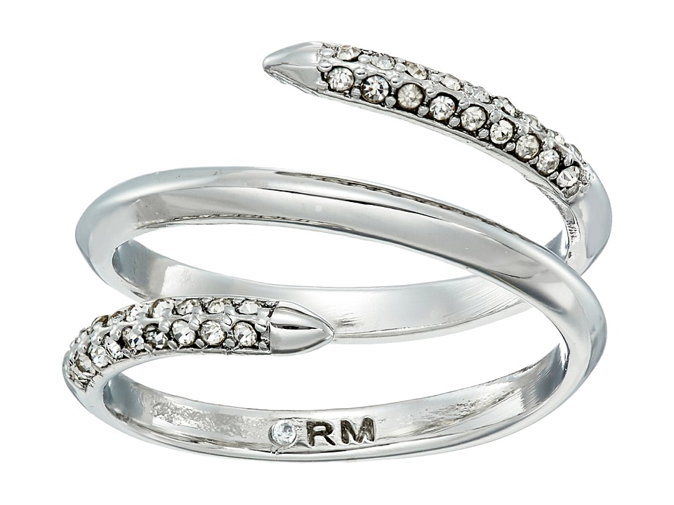 Rebecca Minkoff - Pave Multi Row Ring (Rhodium/Crystal) Ring