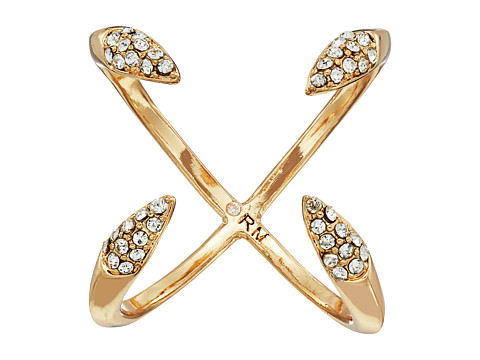 Rebecca Minkoff Pave Claw Ring - Gold/Crystal