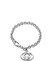 Gucci - Silver Britt Bracelet w/ Interlocking G Charm