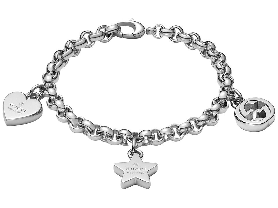 Gucci Trademark Bracelet w/ Heart, Star and Interlocking ...