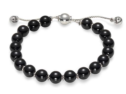 Gucci Boule Britt Bracelet w/ Black Wooden Beads