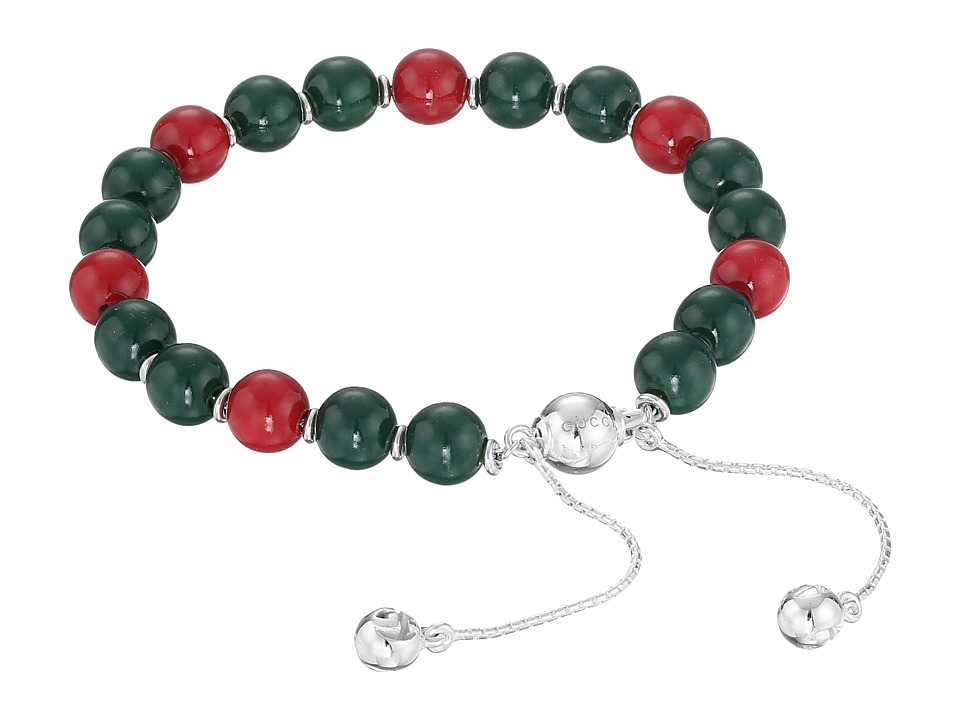 Gucci Boule Britt Bracelet w/ Red and Green Wooden Beads ...