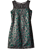 Us Angels - Pleather Lace Sleeveless Illusion A-Line Dress (Big Kids)