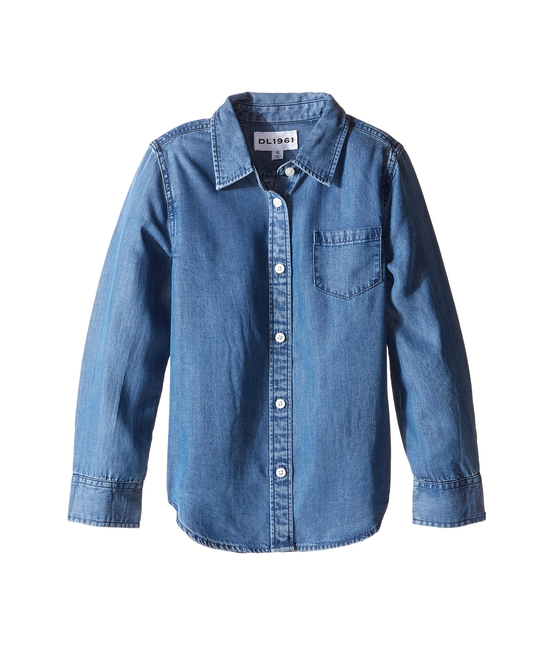 Dl1961 kids olivia soft tencel chambray shirt toddler for Chambray shirt for kids