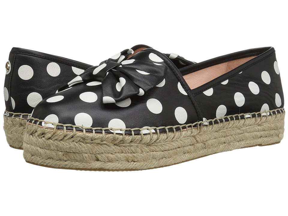 Kate Spade New York Linds (Black/White Polka Dot Nappa) Women