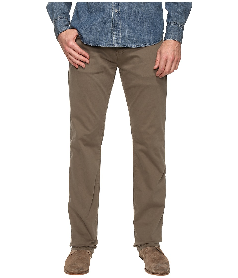 Mavi Jeans Zach Classic Straight Leg in Dusty Olive Twill (Dusty Olive Twill) Men