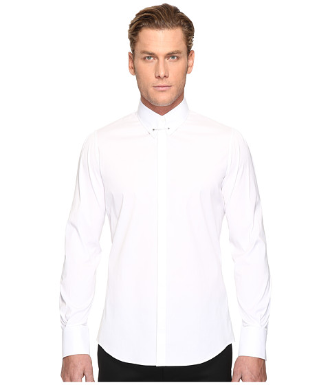 DSQUARED2 Pin Collar Stretch Poplin Button Up - White
