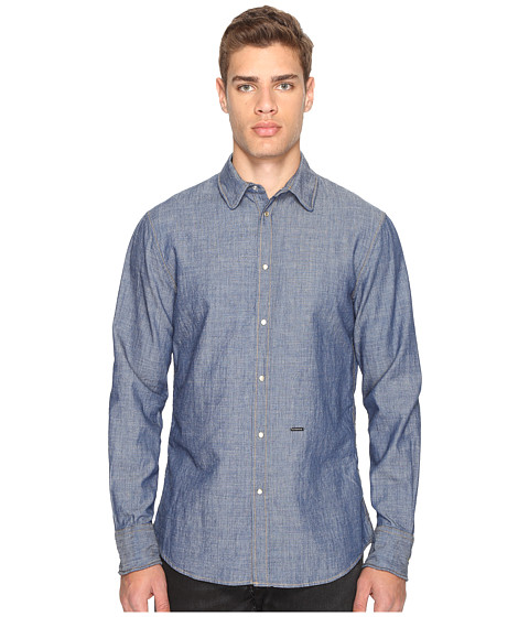 DSQUARED2 Cotton/Linen Metal Wire Collar Shirt