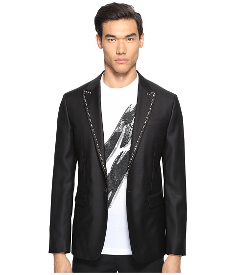 DSQUARED2 Glam Rock Silk Wool Blazer - Black