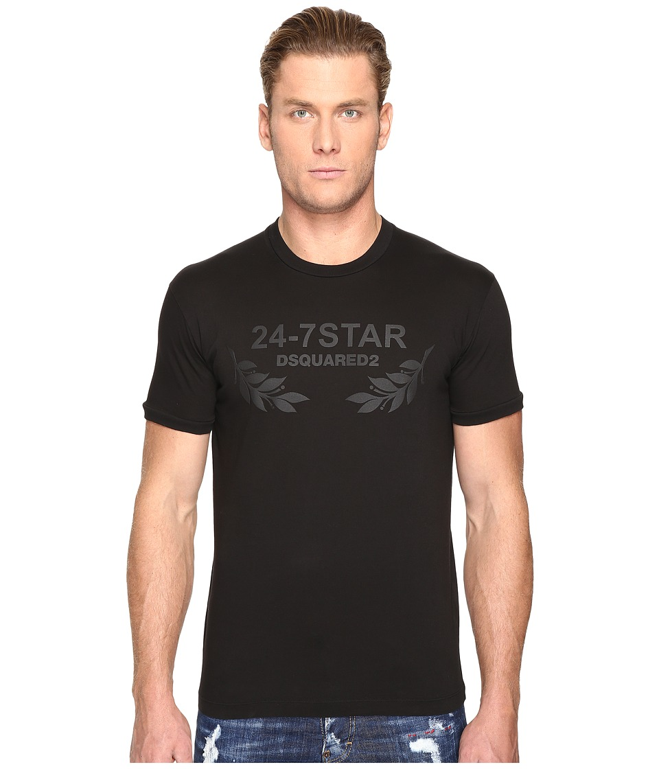 DSQUARED2 24-7 Star T-Shirt (Black) Men