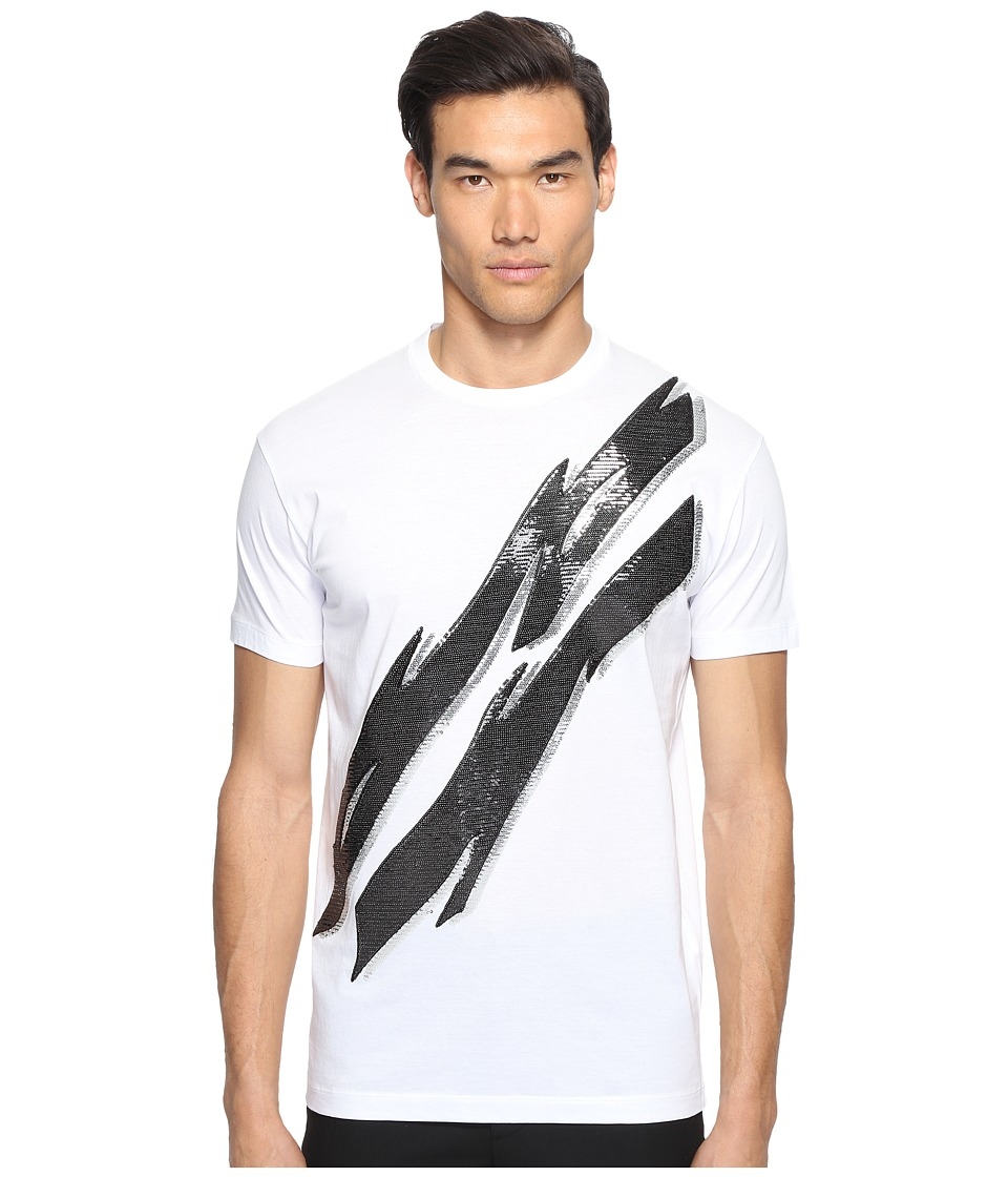 DSQUARED2 Glam Rock Lightning Bolt T-Shirt (White) Men