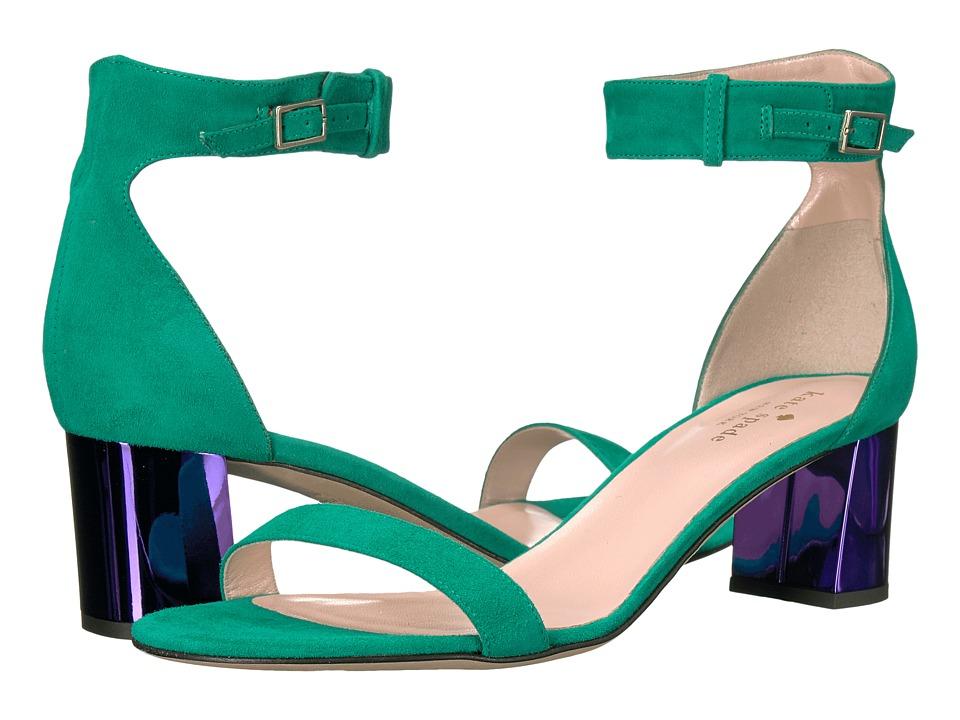 Kate Spade New York Menorca (Emerald Green Kid Suede/Ink Specchio) Women