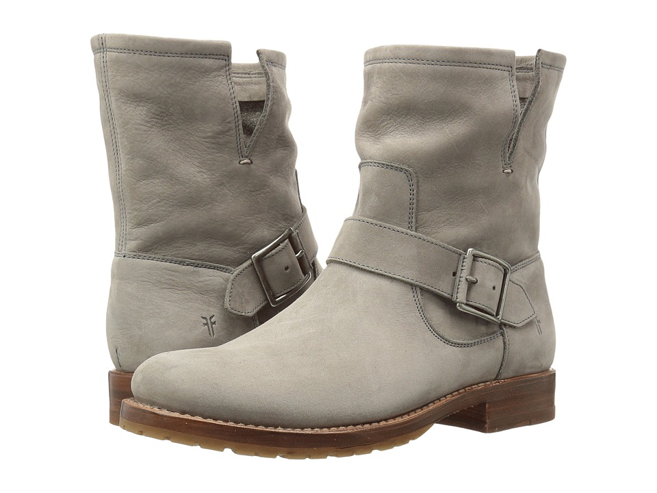 Frye Natalie Short Engineer (Grey Soft Italian Nubuck) Women