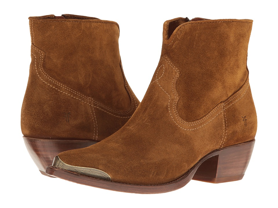 Frye - Shane Tip Short (Wheat Soft Oiled Suede) Womens Pull-on Boots