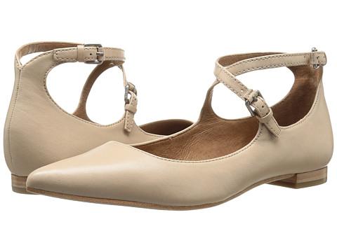 Frye Sienna Cross Ballet - Beige Soft Nappa Lamb
