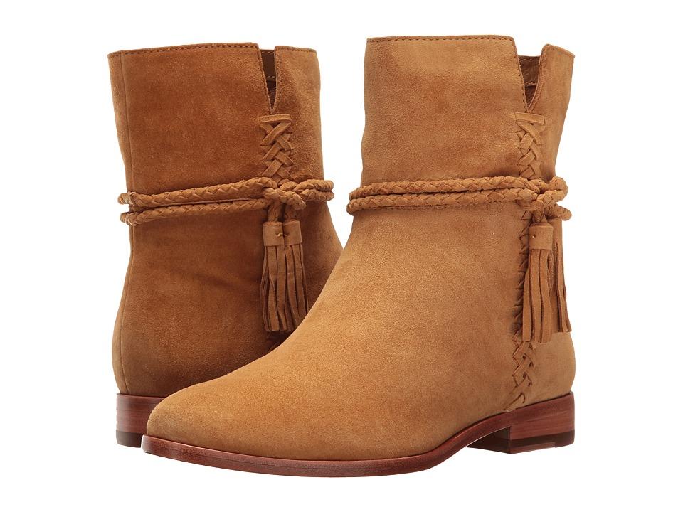 Frye Tina Whipstitch Tassel (Camel Suede) Women's Boots