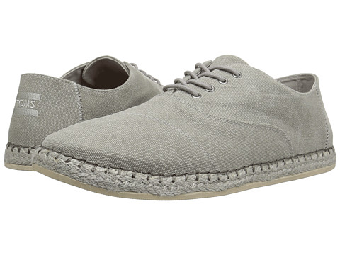 TOMS Camino Lace-Up - Drizzle Grey Washed Canvas