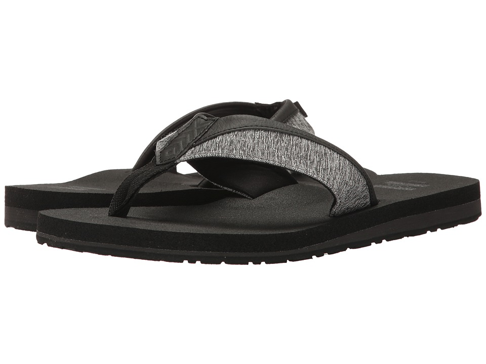 TOMS - Santiago Flip Flop (Forged Iron Grey Space-Dye) Men's Sandals