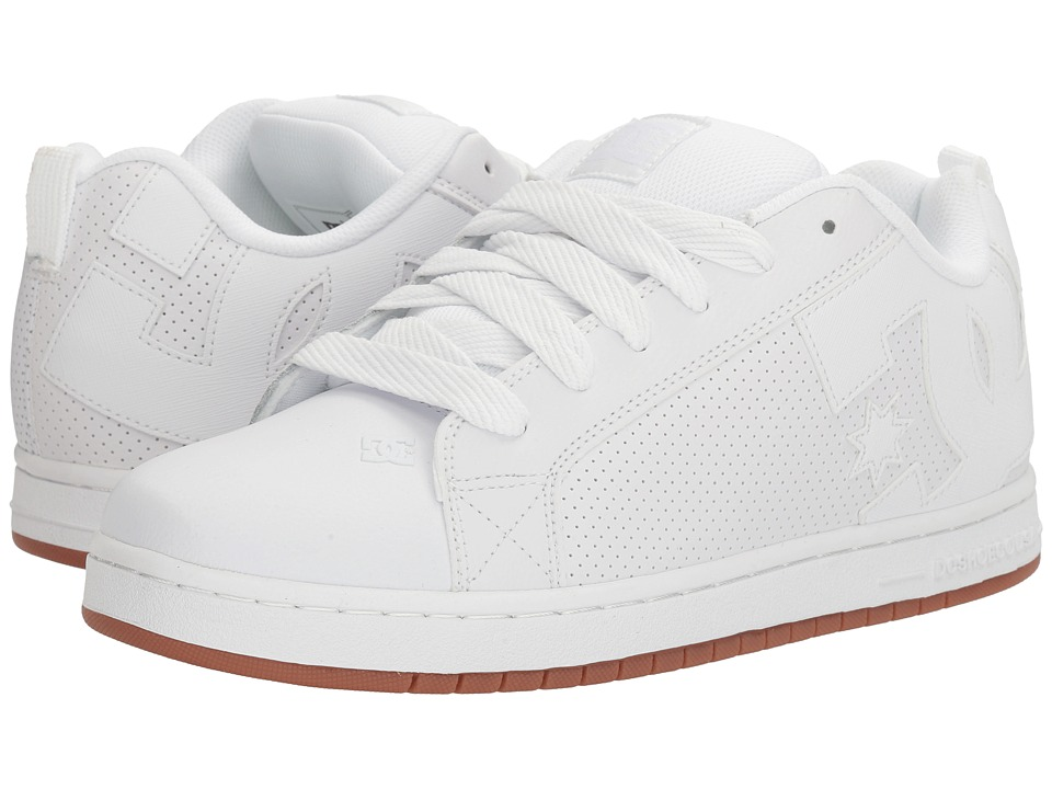 DC - Court Graffik (White/White/Gum) Mens Skate Shoes