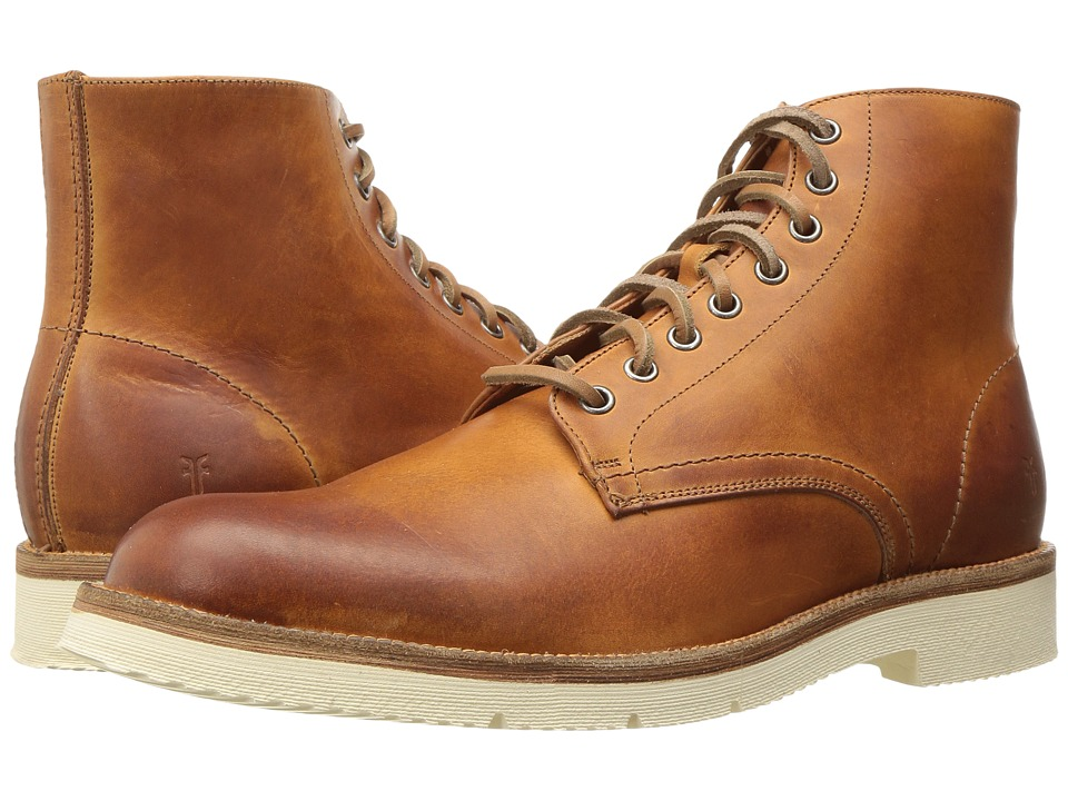Frye Eric Lace-Up (Caramel Vintage Veg Tan) Men