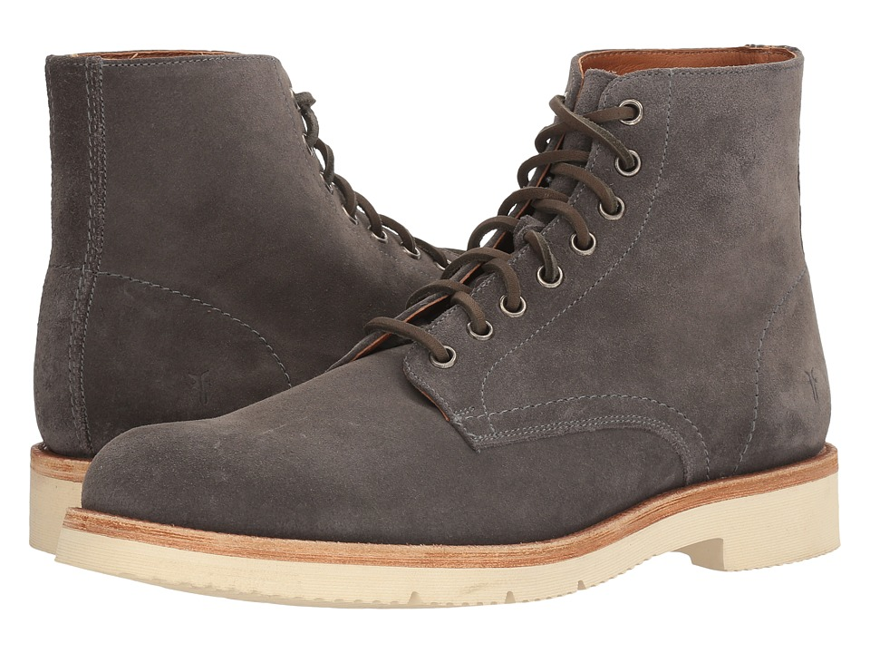 Frye Eric Lace-Up (Graphite Oiled Suede) Men