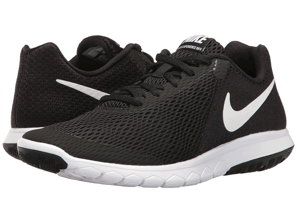 Nike Flex Experience RN 6 (Black/White) Women's Running S...