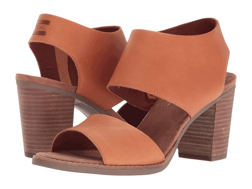 Toms Majorca Cutout Sandal (Tan Leather) Women's Shoes