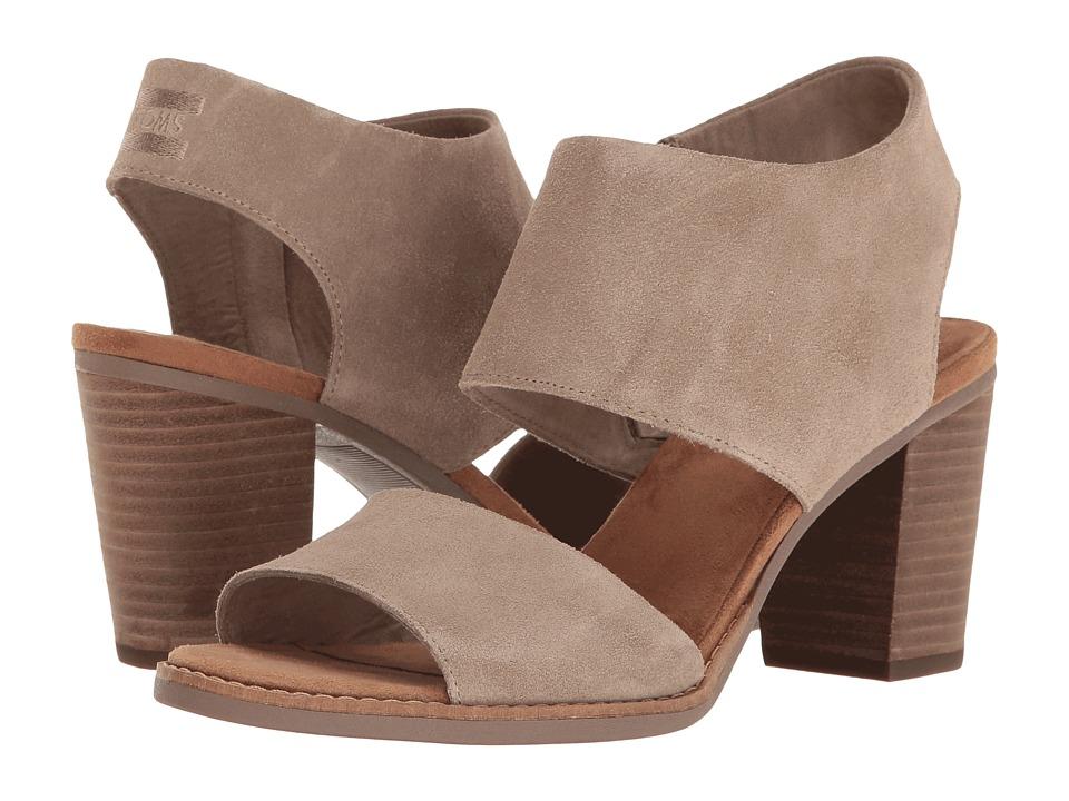 TOMS Majorca Cutout Sandal (Desert Taupe Suede) Women's Shoes