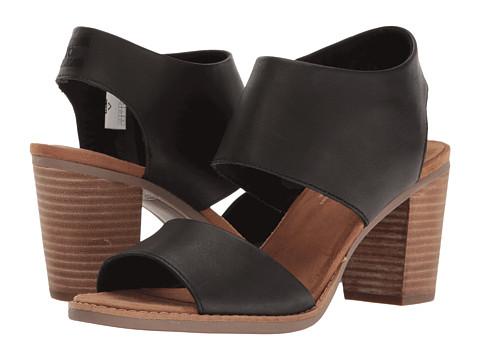 TOMS Majorca Cutout Sandal - Black Leather