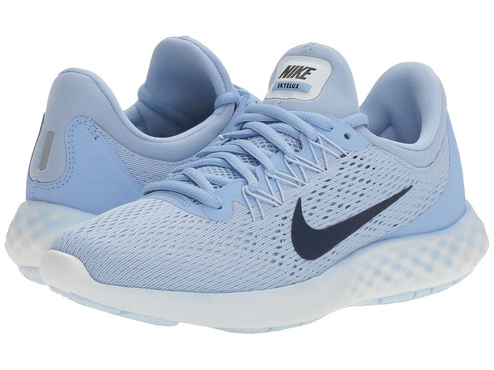 Nike - Lunar Skyelux (Aluminum/Binary Blue/Medium Blue) Womens Shoes