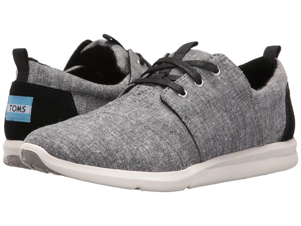 TOMS Del Rey Sneaker (Black Slub Chambray) Women
