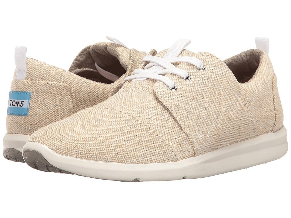 TOMS Del Rey Sneaker (Natural Metallic Linen) Women