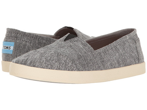 TOMS Avalon Slip-On - Black Slub Chambray