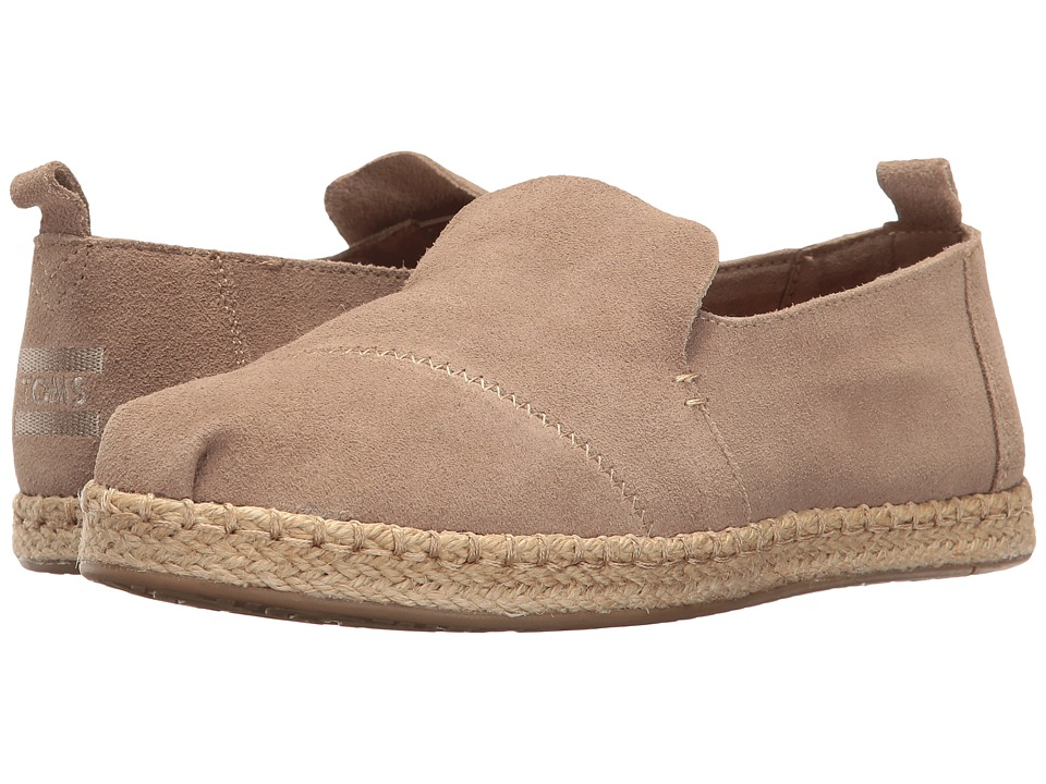 TOMS Deconstructed Alpargata (Desert Taupe Suede) Slip-On Shoes