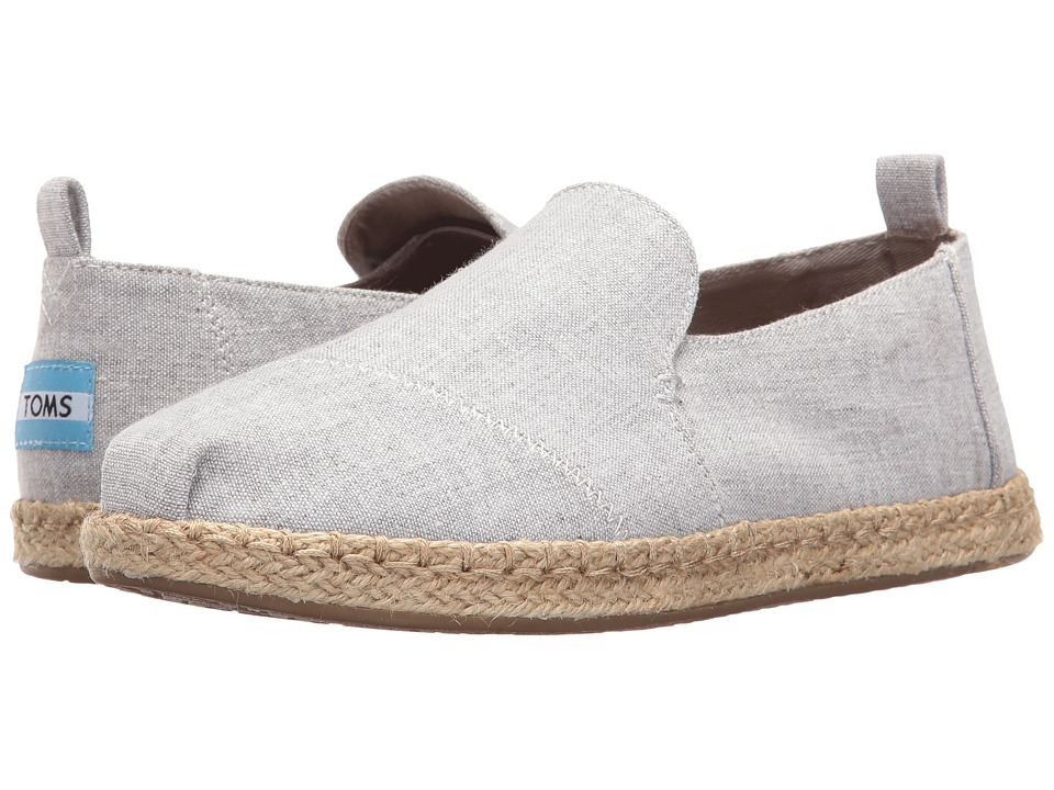 TOMS Deconstructed Alpargata (Drizzle Grey Slub Chambray) Slip-On Shoes