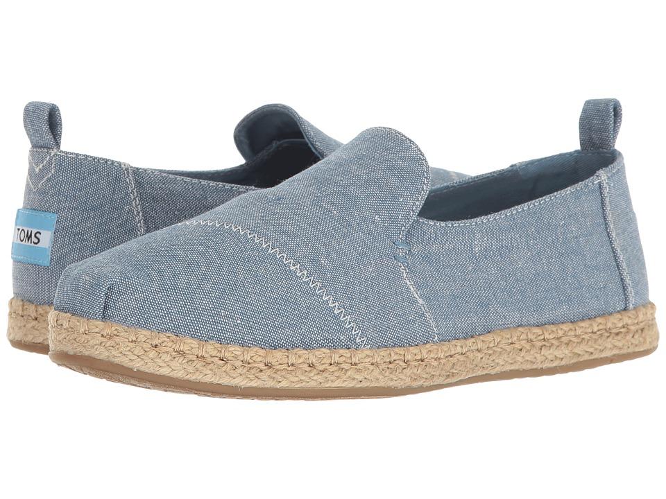 TOMS Deconstructed Alpargata (Blue Slub Chambray) Slip-On Shoes