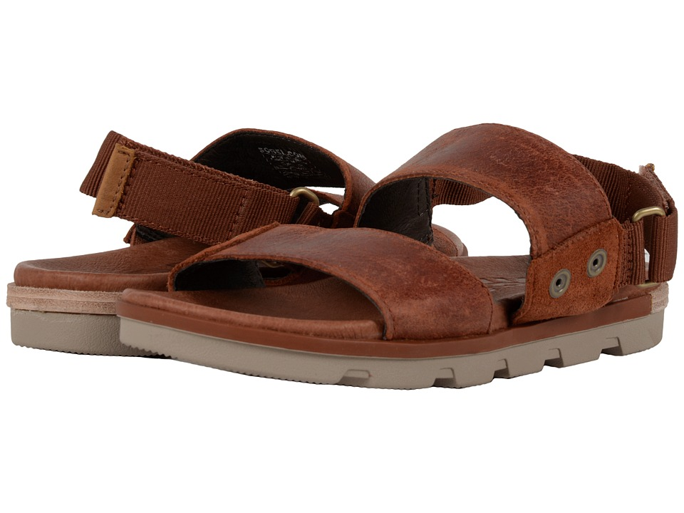 SOREL - Torpeda Sandal (Rustic Brown/Fossil) Womens Shoes