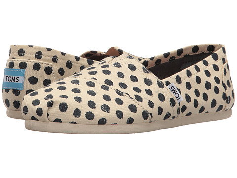 TOMS Seasonal Classics - Natural/Navy Polka Dot