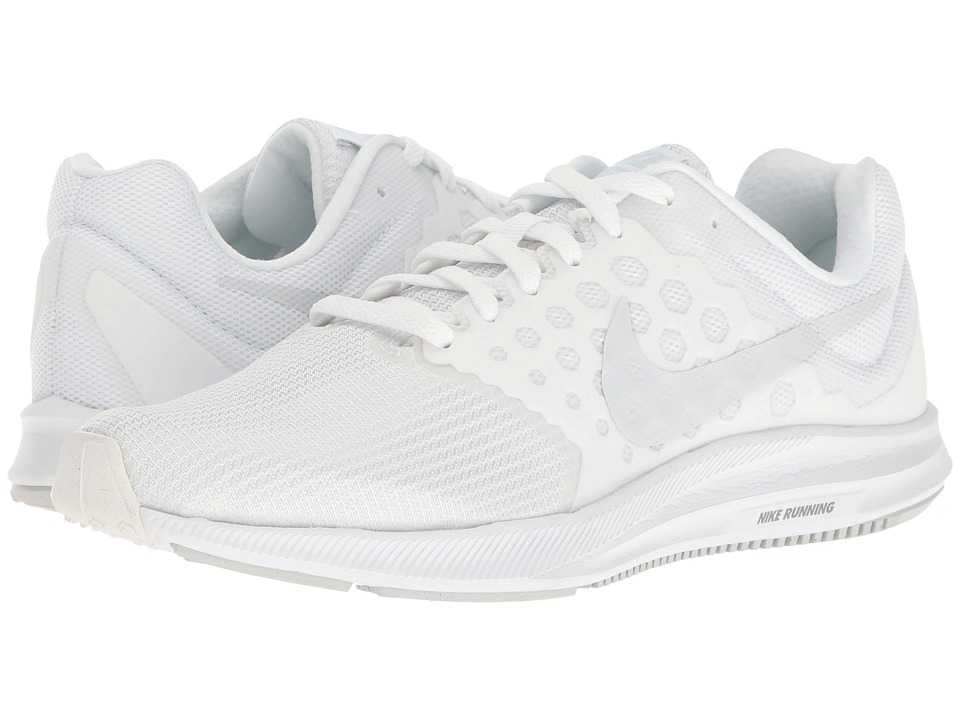 Nike Downshifter 7 (White/Pure Platinum) Women's Running Shoes