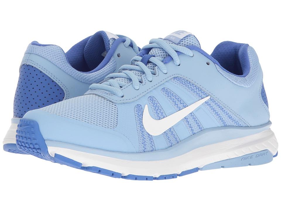Nike - Dart 12 (Aluminum/White/Medium Blue) Womens Running Shoes