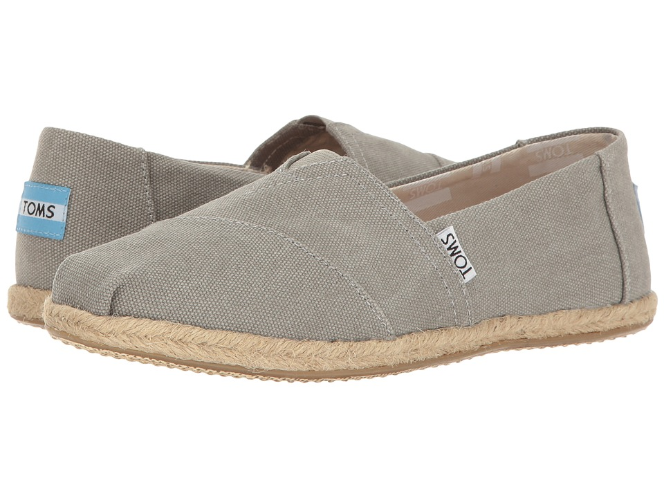 TOMS Seasonal Classics (Drizzle Grey Washed Canvas Rope Sole) Women